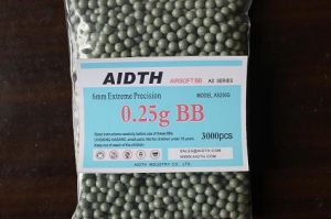 Airsoft Bb Bullet 6mm 0.25g Green Color
