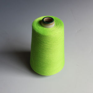 Polyester Spun Yarn-Green pictures & photos