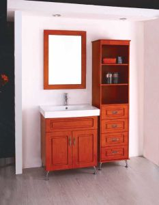 Oak Vanity Bathroom Cabinet Sanitary Ware (W-111)