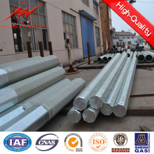 Conical HDG 12m Utility Poles for Power transmission pictures & photos