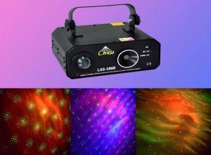 3w RGB LED + Rg Firefly Laser Disco Light (L02-3RGB)