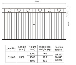 Elegant Style 1.2/1.5/1.8m. H X 2.4 M. W Aluminum Black Fence Section pictures & photos