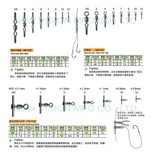 Fishing Tackle Accessories Swivel with Side-Line Clip (YM-1301, 1025, 1032) pictures & photos