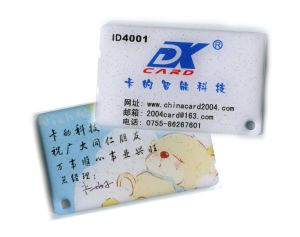 Security Smart Card, Customized Designs Are Accepted, Made of PVC, With Full-Color Offset Printing