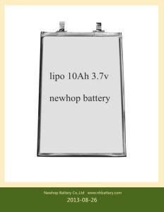 Lithium Polymer Battery Cell 3.7V 10ah for Golf Car Battery