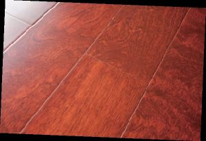 Birch Engineered Wood Flooring 1210X165X16mm with Flat Surface-Red Wine Color (LYEW 06) pictures & photos