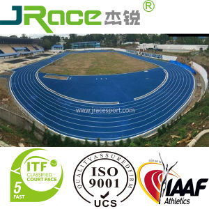 China Elastic Outdoor Playground Athletic Track Tartan Running Tracks Manufacturer pictures & photos