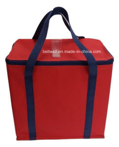 Maxi Fold up Insulated Lunch Cooler Bag 140 GSM PP Woven Bag pictures & photos