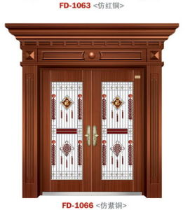 Outside Door China Manufacturer Entrance Security Door (FD-1066) pictures & photos