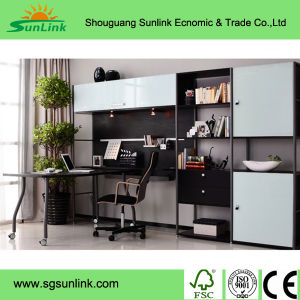 Modern Golden Wooden Stainless Steel Office Furniture (HY-018-1) pictures & photos