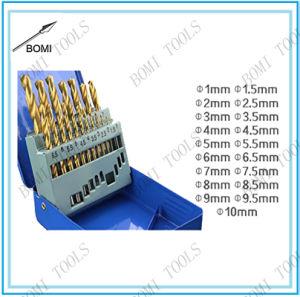 19PC HSS 4341 Drill Bit Set Titanium Coated pictures & photos