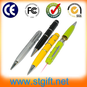 Christmas Pen Shape Laser Stylus Pen USB Pen Drive