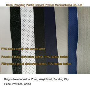 SGS Gold Certification Z036 PVC Outdoor Sports Shoe Leather Artificial Leather PVC Leather pictures & photos