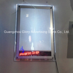 LED Crystal Frame Scrolling Screen Light Box pictures & photos