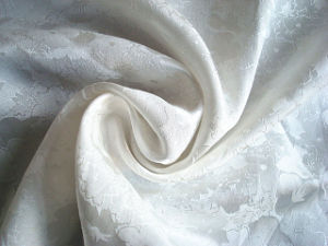 Silk Cotton Interweave Jacquard Satin Fabric pictures & photos