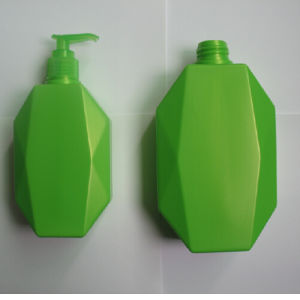 10oz 16.7oz Octagonal Plastic PE Bottle with Lotion Pump pictures & photos