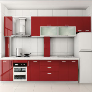 Red Piano Baking Varnished Door Kitchen Cabinet Furniture pictures & photos