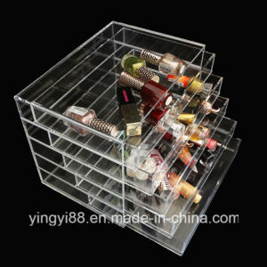Wholesale Clear Acrylic Makeup Organizer with Drawer pictures & photos