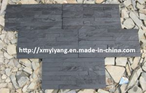 Black Slate Stacked Stone for Wall Cladding pictures & photos