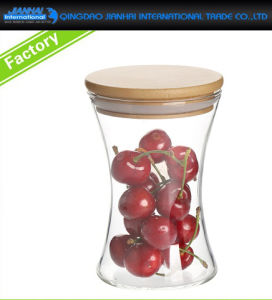 320ml Sealed Food Dry Fruit Glass Storage Jar with Bamboo-Lid pictures & photos