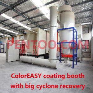 High Quality Fast Color Change Powder Booth -Big Cyclone Recovery System pictures & photos