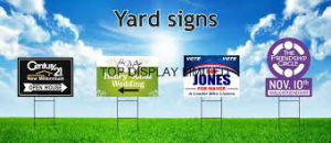 Road Sign Coffee Bar Mall Sign Real Estate Yard Banner Custom Printed Yard Signspolitical Yard Sign pictures & photos