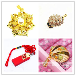 USB Flash Drive Wholesale Crystal Pearl USB Stick Shell Pendrives Chinese Knot USB Flash Card Memory Stick USB Flash Disk Thumb Drive Stick pictures & photos
