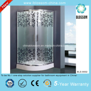 Acid Glass Simple Shower Room Shower Enclosure with CE (BLS-9502) pictures & photos