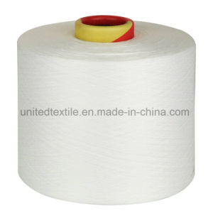 Lycra Covered Polyester DTY Yarn (75D+40d) for Jeans pictures & photos