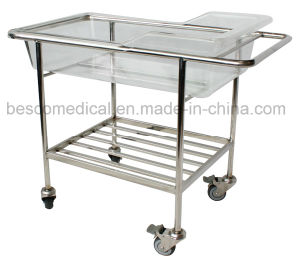 Stainless Steel Baby Trolly with Plastic Tray (BES-HB065A)