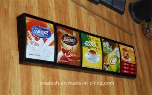Menu Indoor Mcdonald′s Kfc Fast-Food Canteen Restaurant Aluminium LED Board Light Box pictures & photos
