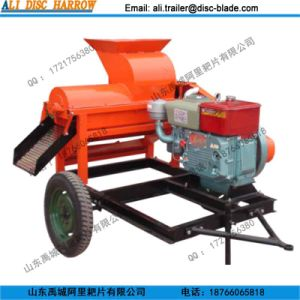 High Quality Corn Huller and Thresher with Diesel Engine Hot Sale in Zambia pictures & photos