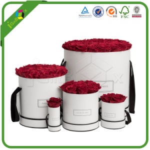 Round Box / Round Gift Box with Ribbon for Flower Packaging pictures & photos
