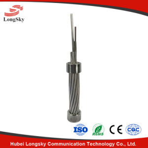 Stranding Stainless Steel Tube Optical Fiber Composite Overhead Ground Wire Opgw for Electric Communication Cable with Lightning Resistance pictures & photos