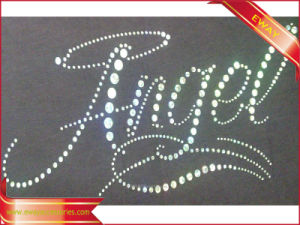 Rhinestone Heat Transfer Label Clothing Sticker Adhesive Label pictures & photos