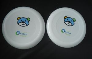 Frisbee with Bear, White Frisbee
