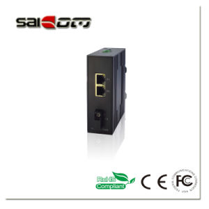 Saiocm(SCSW-03021L) 100Mbps 1 Fx+2 Fe Industrial Unmanaged Single Fiber 20KM 12V~36V Network Switch With Against Surge Voltage Function pictures & photos