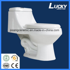 Wc Ceramic Siphonic One-Piece Toilet with Saso/Ce pictures & photos