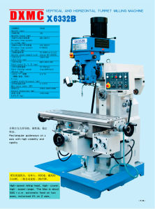 X6332B Vertical and Horizontal Turret Milling Machine pictures & photos