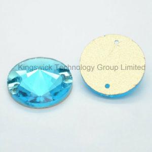 10mm Jet Hematite Color Rivoli Sew on Glass Stone pictures & photos