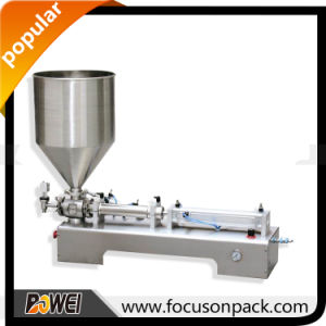 Semi Automatic Table Top Rotary Valve Cosmetic Filling Machine pictures & photos