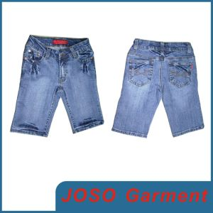 Women Knee Lenght Denim Jeans (JC1038) pictures & photos