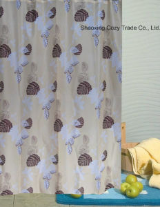 Printing Design Fabric Shower Curtain pictures & photos