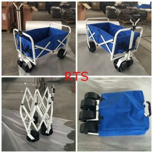 Blue Color Foldable Beach Trolley pictures & photos