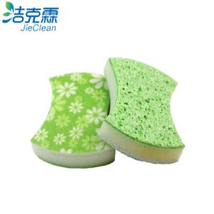 Kitchen Cellulose Sponge with Scouring Pad pictures & photos