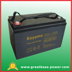 110ah 12V Deep Cycle Lead Acid AGM Floor Washer Battery Golf Cart Battery pictures & photos