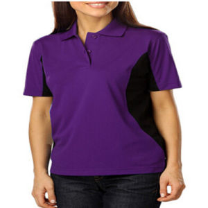 Purple and Black Two Color Polo Shirt pictures & photos