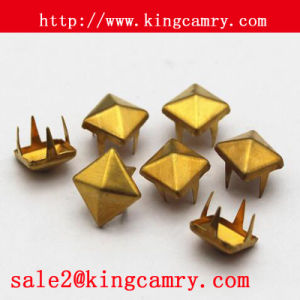 Pyramid Copper Rivet Square Studs Rivet Pyramid Studs for Bag pictures & photos