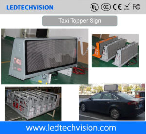 Car Roof LED Sign for Advertising 3G/4G Solution P5mm Outdoor Waterproof pictures & photos