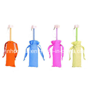 Self Pouch Vivid Color Coated Shaft Fold Umbrella (YSC0011)